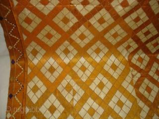 Phulkari From West(Pakistan)Punjab.India,Very Rare Design Of Burfi Bagh(DSC02767 New).