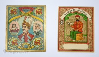 Manchester Print Labels for the Textiles,from Manchester England. For the Indian Market. This Textile mill label is an essential visual reminder of trade in British India. The labels, also referred to as  ...