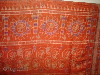 Weft Ikat From Orissa India,with Lion figures,Circa 1900.Its size is 160X200 Cm(DSC01220 New).