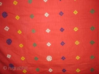 Woman's Shawl(Abochchini),Probably from Meghwar Group ,Tharparkar Pakistan.Its size is 147cmX207cm(DSC01444 New)