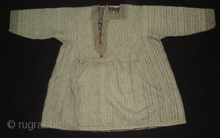 Embroidery Men's Dress From The Pashai People In Nuristan Afghanistan.This Embroidery is same technique like Bengal Kantha embroidery(DSC00016 New)