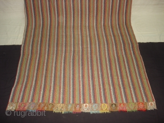 Khatrash Jamawar Long shawl From Kashmir, India.C.1850.Its Size is 127cmx280cm.Its condition is very good(DSC03696 New).