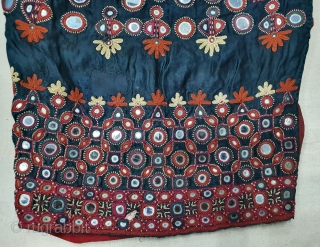 Ceremonial Women's Blouse (Kapada) FIne Mutwa Embroidery From Kutch Gujarat India.Silk Embroidery on the Silk, With fine mirror work. This were Traditionally used mainly Mutwa Sayed Khatri Community of Kutch Gujarat India.C.1900  ...