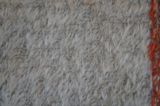 """Angora Oushak rug. Ca. 1900. 3'10' x 6'4"""". This is even softer than in the photo which was taken without a flash to reduce glare from the shiny surface. The ends and  ..."""