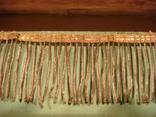 Fine Silk Lawon . Sumatra C.1900 Original gold thread fringes on both ends