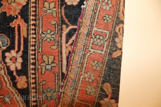 This is a so called Mohtasham Kashan rug, all good colours, and lots of them, and superb wool. This is either a copy of a Mohtasham rug or a early original one,  ...