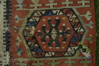 Antique Hotamish kelim fragment, C Anatolia, age? not 20th c. anyway.
