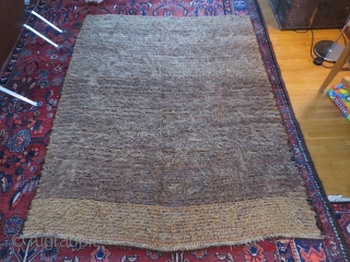 Antique, probably Finnish, ryijy rug, dated 1836, god condition, most wear on the back side, 187x147 cm.