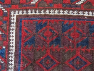 Baluch rug, first third 20th c. 121x91 cm. Lovely colours like some dark eggplant and very nice wool and good condition. Even if it´s not the oldest seen, this is a gem.