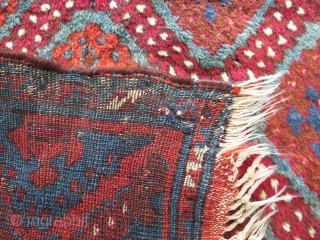 Antique East Anatolian rug in good condition, some small repairs and minor mothing. 250x127 cm. Long shiny wool and nice colours.
