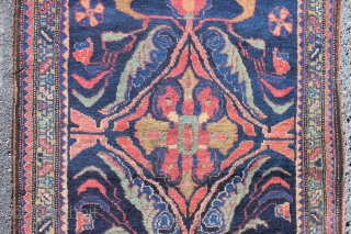 Iranian art deco at its best, very good condition and colours, probably made in the Khoigan village in the Feridan province, north to Shahar Mahal, about 1930.