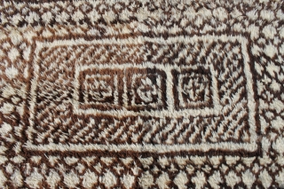 Made in Jiroft, south of Kerman in southern Iran. Some mothing, very hard to see. Mid 20th c. or earlier.