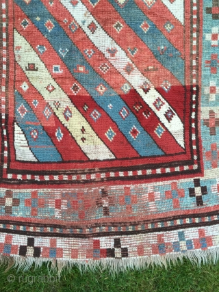 Kind of cool rug, 176x100 cm. One big restauration see picture number six.