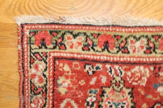 Antique Persian rug, 450x196-205, published in JP Willborgs book Hamadan, as plate 22, attributed to Bibikabad and dated 1840-1880. Low in the middle and more pile in the borders, all good colours,  ...