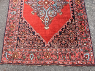 High quality Bidjar rug, 218x141 cm, made between 1930-1940. It's in very good condition and colours looks nice.