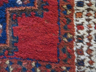 So called Outback Afshar, early 20th. c. Ex Thomas Cole rug, 178x165cm. good condition and very nice colours. Cotton warps and very minor wear and one lazy line.