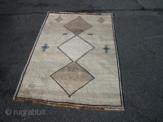 Not antique but very nice Qashqai rug, 174x105 cm. made about 1940 perhaps. Shiny wool and god condition, some wear in and around the bottom medallion, perfect with your danish furniture.
