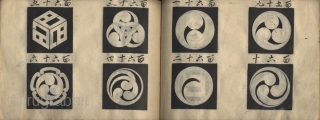 Japanese album of hand painted crest. One volume, complete, 13 x 19 cm. Unsigned. Title unread. 