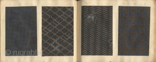 Japanese album titled Komon chō (Collection of small patterns). One volume, complete.