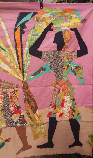Patchwork art deco circa 1960, 200 x 128 Price upon request