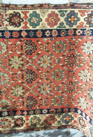 Runner south east Caucasus, 270 x 100 missing the borders and fringe, god pile have some repiling, early 19e century.  Price upon request