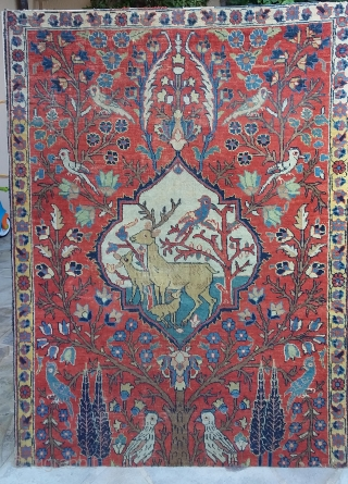 Tabriz on frame, fragment, 2nd part 19th, 130 x 97 Price upon request