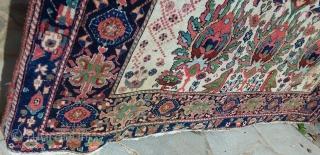 Unusual Antique Afchar, attractive color, circa 1900, 185 x 145 Price upon request
