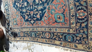 Tabriz kory   280 x 370, boder and fringe original circa 1880, some small part damages, general look , very good, see photos. Price upon request
