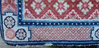 Antique Chinese carpet , super peach color, 130 x 66 Price upon request