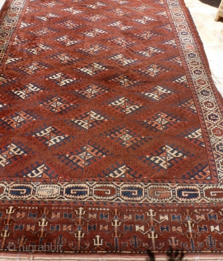 Yomuth Dyrnak Gul 340 x 195, very fine weaving, very soft wool, 