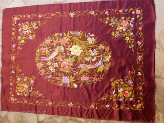 Silk Chinese embroidery 108 x 77