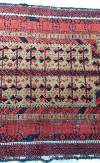 Baluch prayer khorasan, late 19th. 180 x 102, good pile, black oxide,