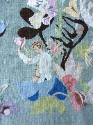 Aubusson circa 1950/60, in the spirit of Marie Laurencin, 64 x 54.