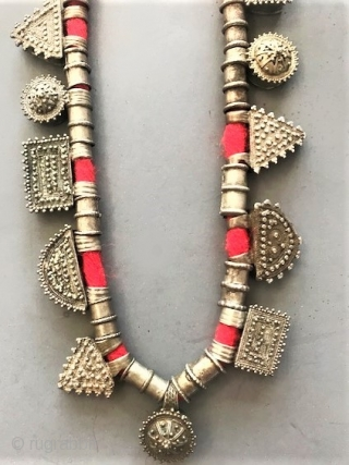 granulated telsum necklace from Iritrea very good quality silver .