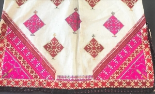 Vintage  Tunic NWFP  silk embroidery on cotton .