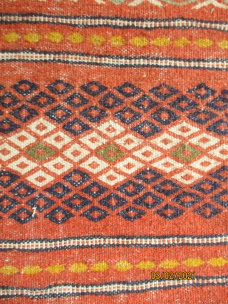 KURDISH KILIM FROM THE KURDS OF QUCHAN which lies north of Meshed. Although Quchan is the main gathering point for the Kurdish rugs, bags, trappings and kilims few are woven in the  ...