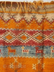 RARE HIGH ATLAS BERBER CARPET.      Which was found in a locked store in the smallholding of the owner.     Although locked by this key  ...