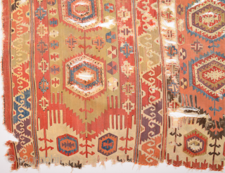 Colorful 19th Century Anatolian Kilim Fragment Size 180 x 200 cm