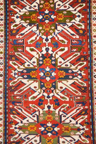Late 19th Century Caucasian Adler Rug Size 152 x 285 cm