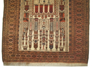 "Beshir prayer Turkmen  166 x 117 (cm) 5' 5"" x 3' 10""  carpet ID: BRD-5