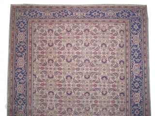 """Kayseri Turkish old.  Size: 218 x 146 (cm) 7' 2"""" x 4' 9""""  carpet ID: FW-4 The knots are hand spun wool, the black color is oxidized, the background color is  ..."""