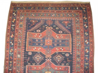 """Fachralo Kazak Caucasian circa 1905 antique. Collector's item. Size: 234 x 147 (cm) 7' 8"""" x 4' 10""""  carpet ID: K-3229 Vegetable dyes, the warp and the weft threads are 100%, the  ..."""