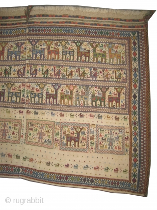 """Afshar kelim Persian circa 1915 antique. Collector's item, Size: 138 x 90 (cm) 4' 6"""" x 2' 11""""  carpet ID: A-820 Rare example, vegetable dyes, good condition, woven with hand spun  ..."""