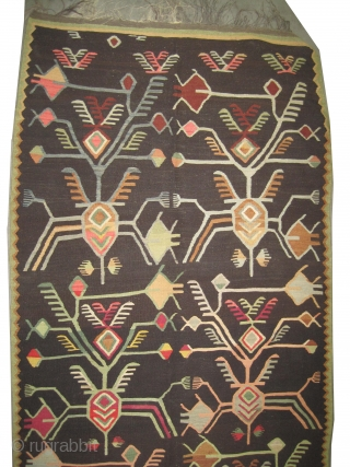 "Besarabian circa 1915 antique. Size: 374 x 126 (cm) 12' 3"" x 4' 2""  carpet ID: A-854