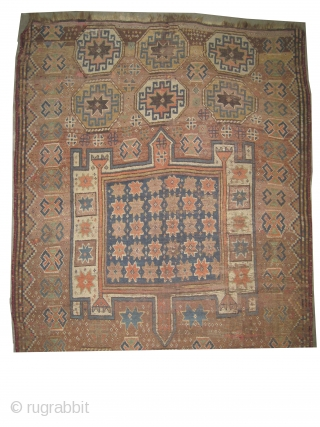 """Gutschan Kurd Persian circa 1900 antique. Collector's item, Size: 265 x 142 (cm) 8' 8"""" x 4' 8""""  carpet ID: K-2696 Vegetable dyes, the black color is oxidized, the knots are hand  ..."""
