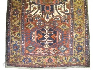 "Karadja Persian. Semi-antique, Size: 215 x 145 (cm) 7' 1"" x 4' 9"" 