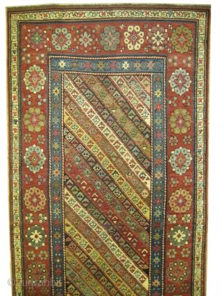 "Talish Caucasian circa 1870 antique. Collector's item. Size: 249 x 106 (cm) 8' 2"" x 3' 6""  carpet ID: RS-451