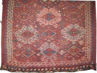 "Namakdar Baktiar Persian circa 1910 antique. Collector's item. Size: 74 x 59 (cm) 2' 5"" x 1' 11""  carpet ID: A-743 Namakdar/salt bag, woven with three different techniques of work as flat,  ..."