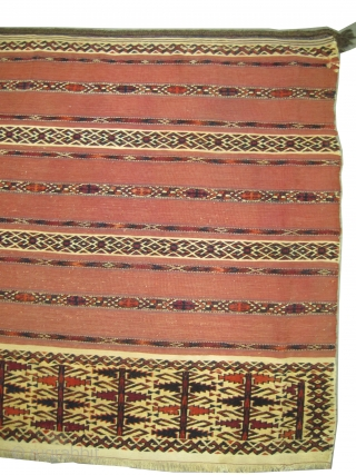 "Tekke Tschwal Turkmen circa 1880 antique. Collector's item. Size: 125 x 76 (cm) 4' 1"" x 2' 6""  carpet ID: E-458