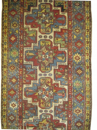 "Shahsavan Persian circa 1895 antique. Collector's item, Size: 392 x 104 (cm) 12' 10"" x 3' 5""  carpet ID: K-3371